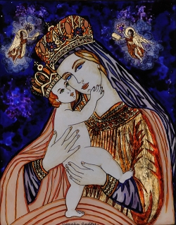 Virgin Mary with baby Christ King